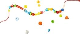 302637 - HABA Fädelspiel Regenbogenperlen, Kreatives Fädelspielzeug mit 66 Perlen zum Auffädeln in unterschiedlichen Farben und Formen, Spielzeug ab 3 Jahren - 1