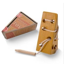 AGREATLIFE Pädagogisches Fädelspiel für Kleinkinder | Käsestück aus Holz, Baumwollschnürung & Fädelmaus | Zur Verbesserung der Kinderlogik, Geduld und Problemlösung | Geruchlos, ungiftig - 1