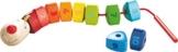 HABA 302161 - Fädelspiel Zahlen-Drache, Niedliches Holzspielzeug und Geschicklichkeitsspiel ab 2 Jahren, Fördert erstes Zählen und das Lernen von Farben - 1