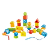 Hape International Hape E1019 - Fädelklötze, Babyspielzeug - 1
