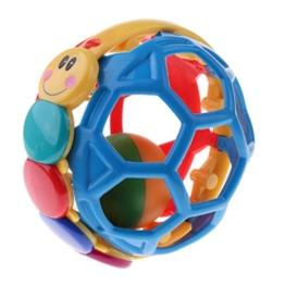 MagiDeal Baby Lochball mit Rassel Greifball Greifling Motorikball Glockenball Pädagogisches Spielzeug - 10cm - 1