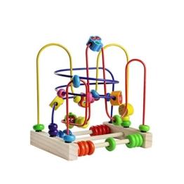 Motorikschleife aus Holz Holzspielzeug mit 33 Beweglich Holzteilen für Kinder 3 Jahre alt - 1